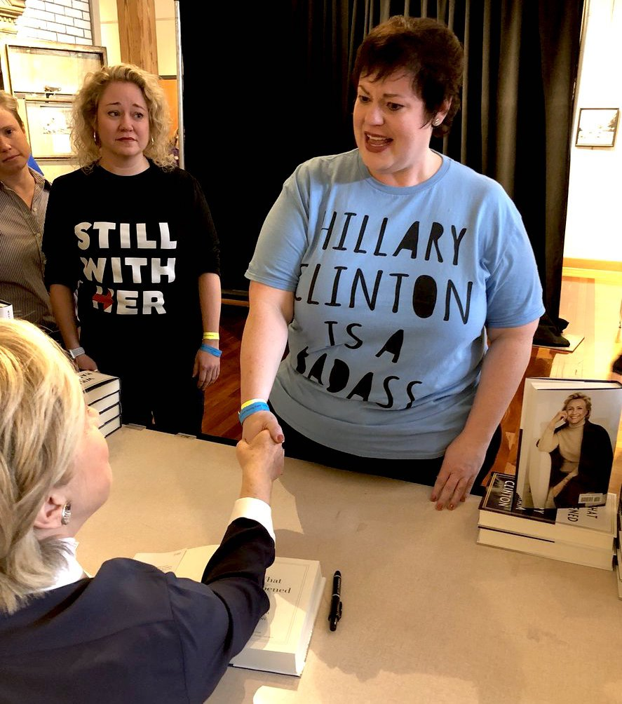 Still with the BADASS @HillaryClinton #StillWithHer <br>http://pic.twitter.com/FXFeXbcRtw