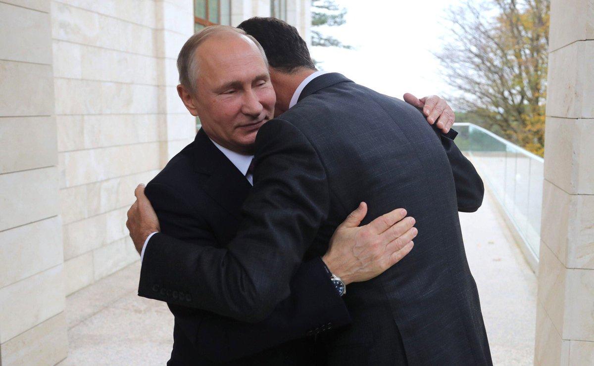 Путин - Асаду: Рад приветствовать вас в Сочи и поздравить с результатами, которые сирийская армия добивается в борьбе с террористами