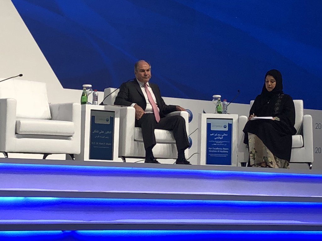 #Jordan PM at #KnowledgeSummit emphasizes that the #technologically driven 4th #IndustrialRevolution will be #human capability driven and notc #resource driven. <br>http://pic.twitter.com/Q1vVpj3g5F