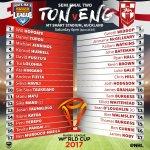 Team lists for @tongaNRL vs @England_RL:   #RLWC2017  #NRL