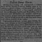"Nov 17-21, 1798 - The infamous ""Long Storm"" swept across the northeastern U.S. spreading heavy snow from #Maryland to #Maine. #wxhistory https://t.co/QKqEZoDjb8"