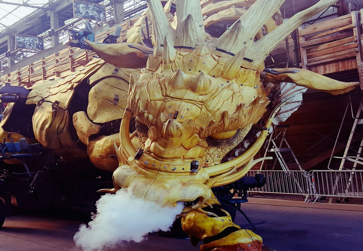 Ssshh... Long Ma's sleeping! Long Ma, the dragon horse, also built by Compagnie La Machine, is in Nantes. She can be seen sleeping, at the warehouses, where you can visit until the 2018 February school holidays.  #nantes #dragon #longma   https:// lc.cx/YivS  &nbsp;  <br>http://pic.twitter.com/wRbOa2Je72