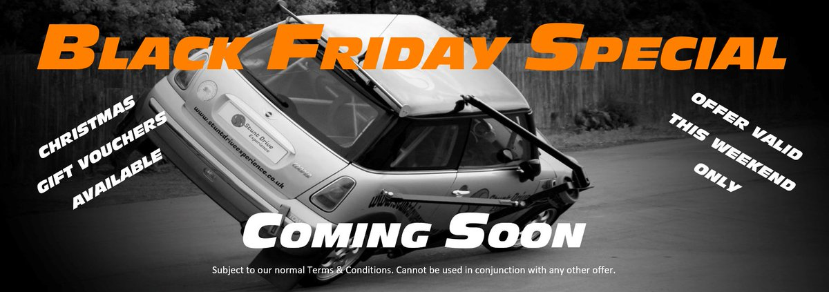 #BLACKFRIDAY  Keep an eye on our #Offers coming this #weekend! Not to be missed! #BlackFridayWeek #BlackFriday2017 #NorthEast #NorthYorkshire #StuntDriveExperience #GiftVouchers #Christmas #ChristmasIsComing #christmasGifts #Xmas #XmasGifts<br>http://pic.twitter.com/F355LHGe0J