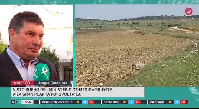 El megaproyecto fotovoltaico #NúñezdeBalboa tiene ya la DIA favorable. El alcalde de Usagre dice en @AhoraExt que es