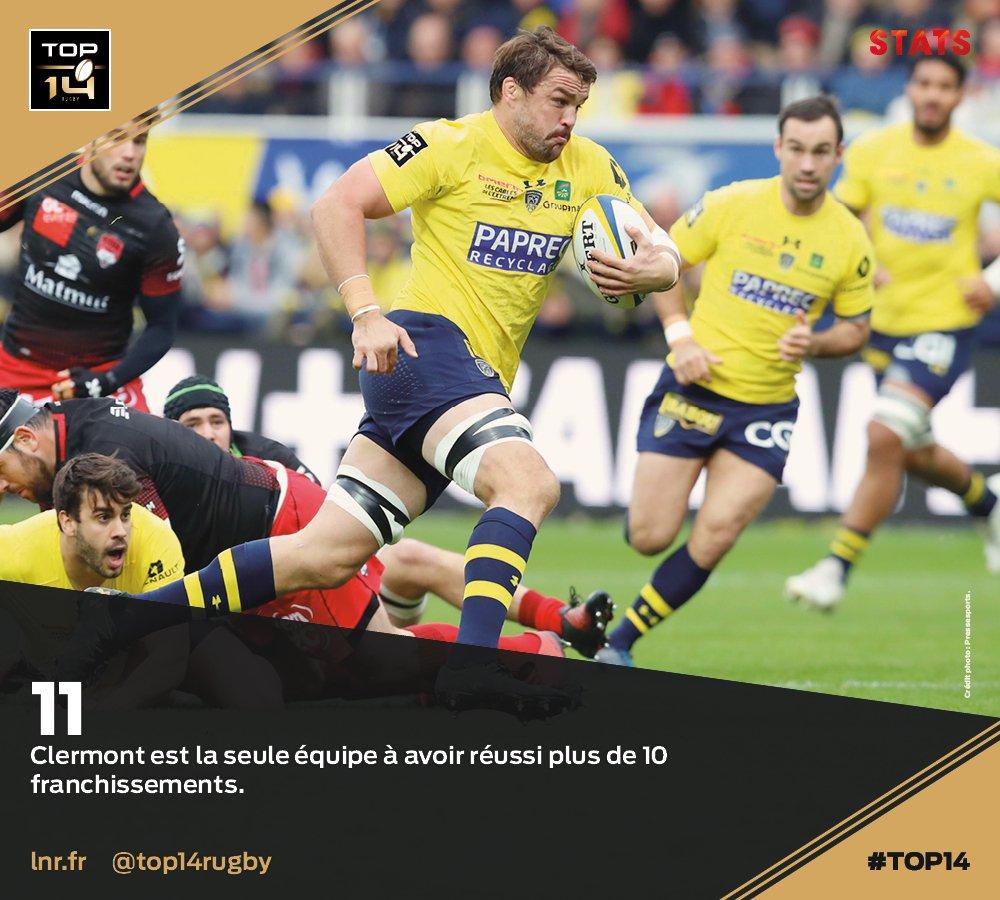 #TOP14, J10   #Stats ► @ASMOfficiel est...