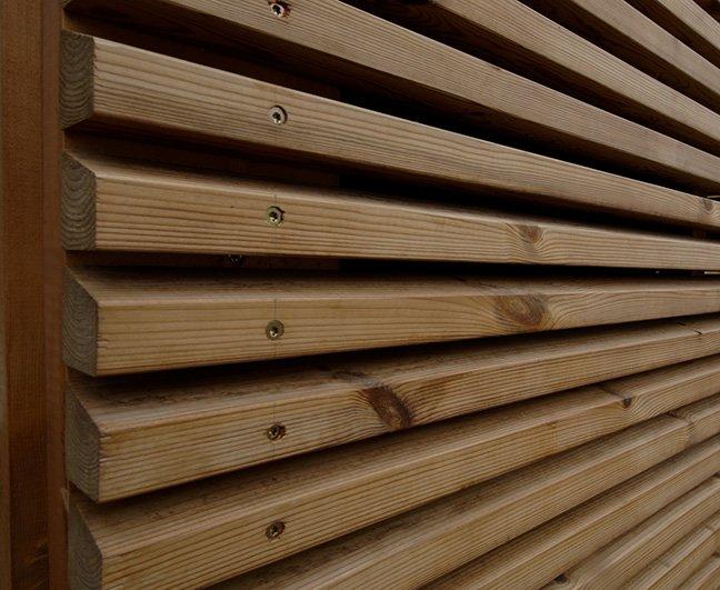 Gabarr hermanos on twitter original fachada revestida - Listones de madera para exterior ...