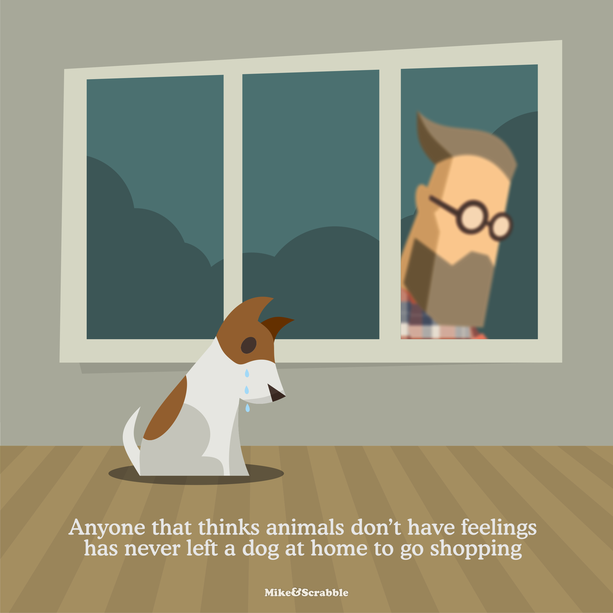 RT @mikeandscrabble: Anyone that thinks animals don't have feelings has never left a dog at home to go shopping https://t.co/wGGLZLIZvX