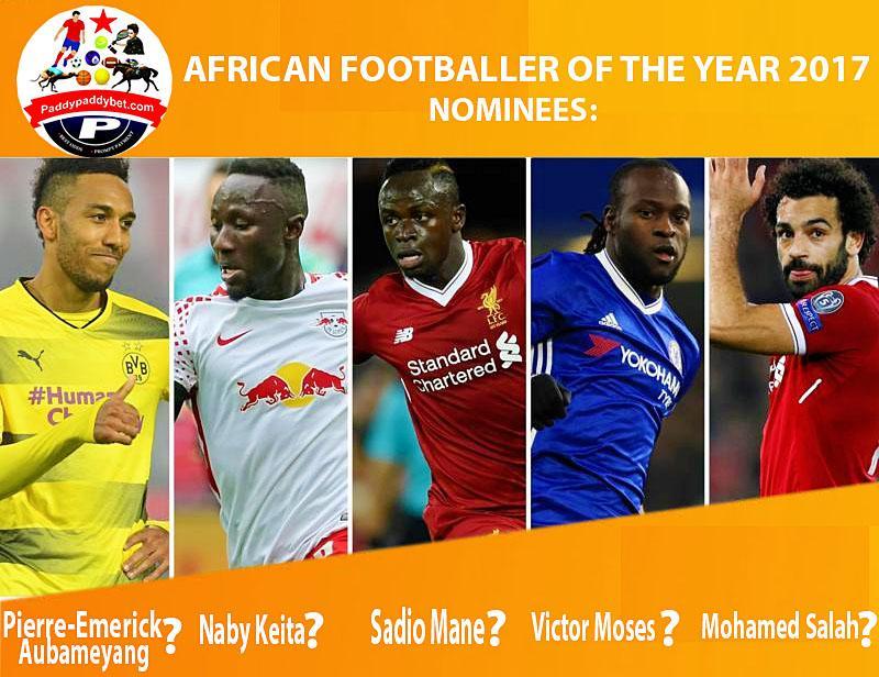 And the winner is ..........................? #BBCAFOTY #victormoses #mohamedsalah #sadiomane #nabykeita #aubameyang <br>http://pic.twitter.com/DEXsRthSY8