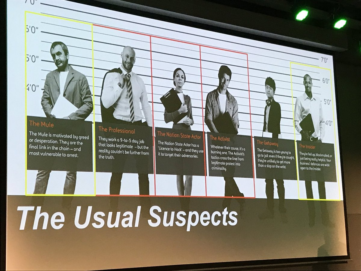 The #cybersecurity &quot;usual suspects&quot; #splunklive #netsec #splunk <br>http://pic.twitter.com/V10dkYbZo8