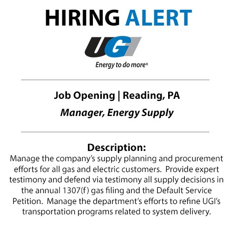 test Twitter Media - Are you looking for a new direction? UGI is searching for a Manager of Energy Supply to join our team in Reading. Apply today: https://t.co/FUdZkcFdgs https://t.co/0M7EoM0LgF