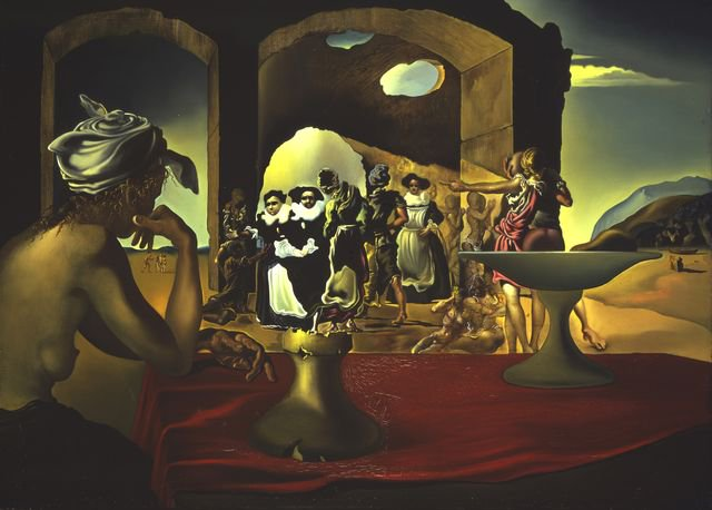 #Voltaire (born #OTD in 1694) is depicted in #SalvadorDali&#39;s &quot;Slave Market with the Disappearing Bust of Voltaire.&quot; Or is he?  http:// ow.ly/14ng30gtrR6  &nbsp;  <br>http://pic.twitter.com/tdTZ3tgfu0