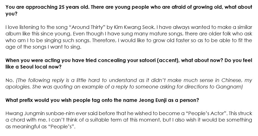 On Twitter Butchered Version Of Apink Eunjis Interview In