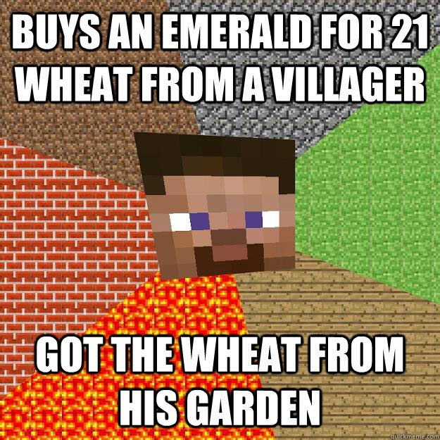 Duggie fresh on twitter dumb villager how does he not know duggie fresh on twitter dumb villager how does he not know its his own wheat minecraft meme swag sofunny httpst0qxom4zjnf sciox Images