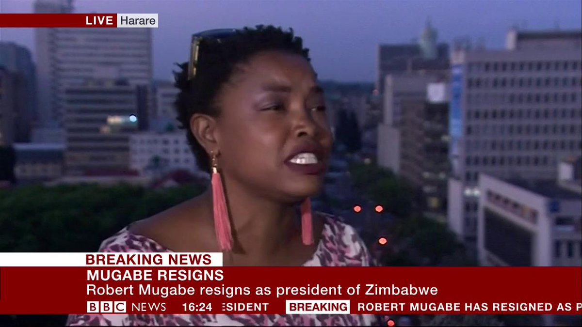 This is what weve always wanted - Zimbabwe activist breaks down in tears of joy after Robert Mugabes resignation bbc.in/2zovWsC