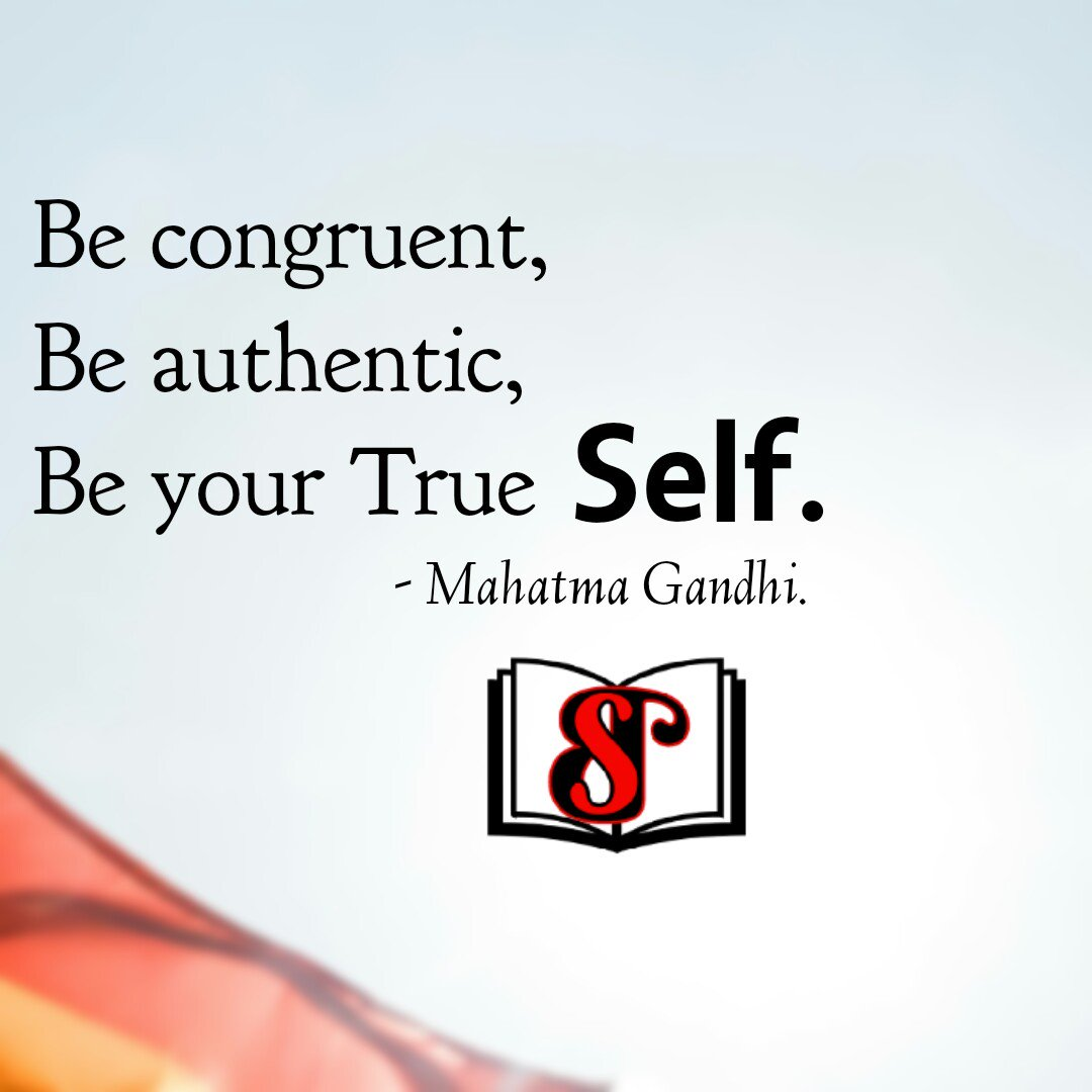 Be congruent, Be authentic, Be your True SELF. #mahatmagandhi . #MotivationalQuotes #InspirationalQuotes #Stayconfident #truthbetold #Authors #selfconfidence #motivate #inspire #books #staybookish .<br>http://pic.twitter.com/WKYGQtAAwg