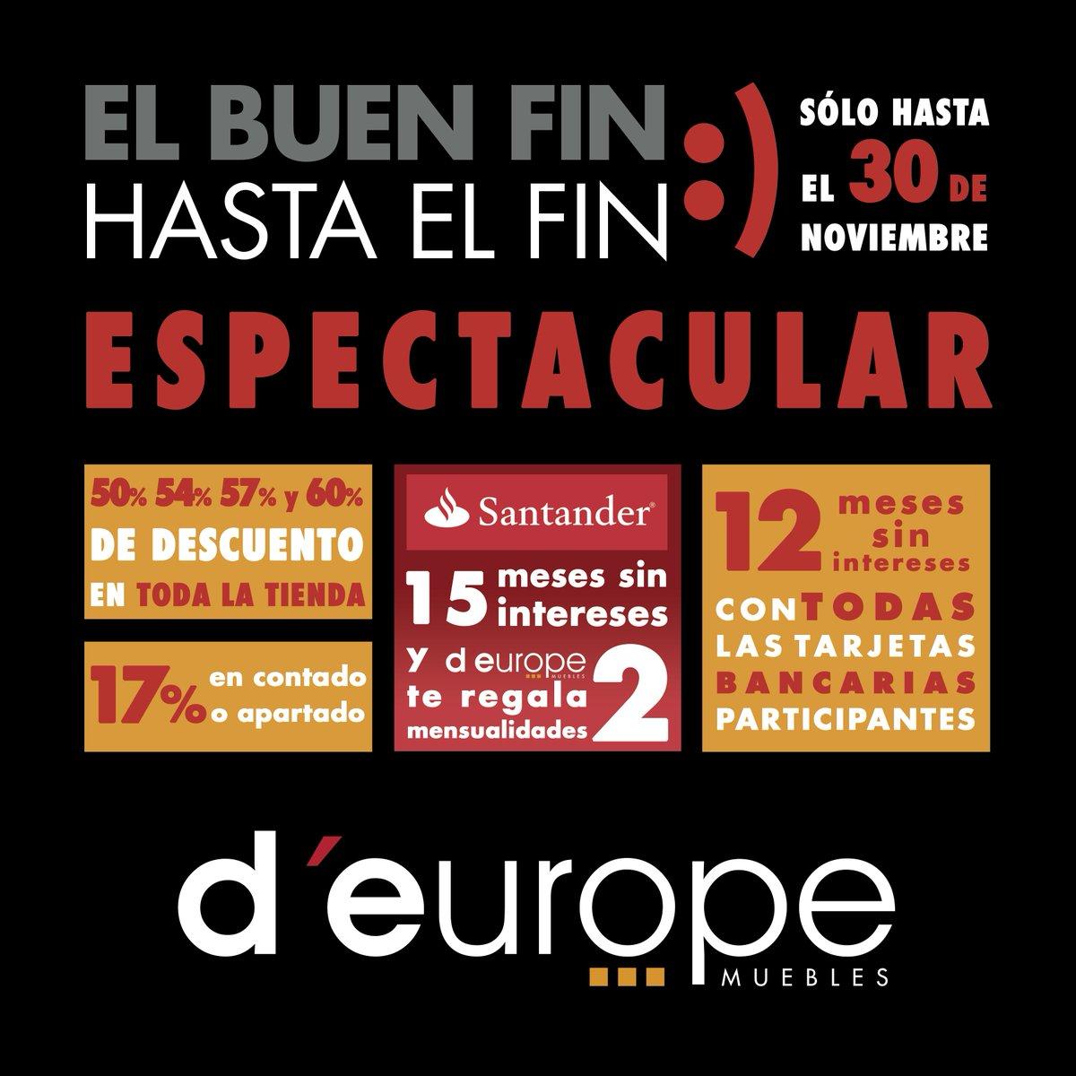 D Europe Muebles On Twitter Mantenemos Todos Los Descuentos Del  # Muebles Buen Fin