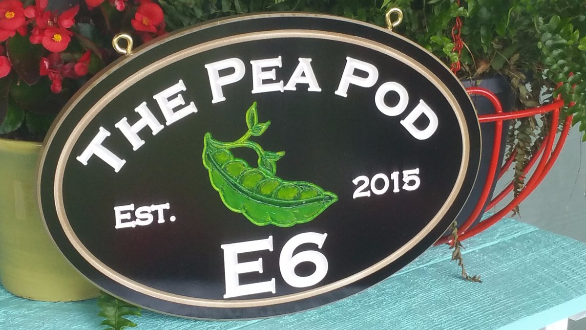 #personalized #cottage #signs #signage #PeaPod #Address #HomeSweetHome  https://www. etsy.com/listing/532103 699 &nbsp; …  Double sided/single sided #Engraved #HandPainted #retail #residential #resort #beachhouse #NewEngland #USA<br>http://pic.twitter.com/Risidh114k