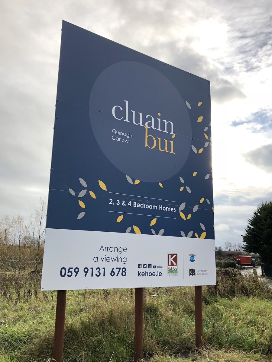 New property development in Carlow, delighted to work on the brochure &amp; exterior signage. #propertydevelopers #EstateAgents #developers #marketing #sellinghouses #Brochures #signage<br>http://pic.twitter.com/NLQz7qsL9X
