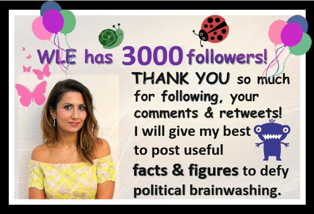 WLE has 3000 followers! Thank you so much for all your support  #Brexit #Stopbrexit #FBPE #ActOnClimate #vegan #HumanRights #FashRev #AnimalRights<br>http://pic.twitter.com/3aEl02c5C3