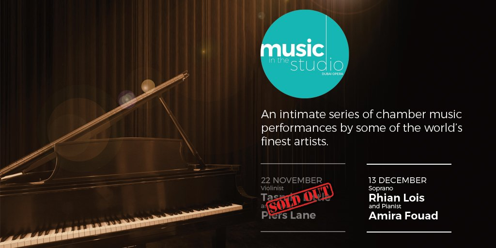 Music in the Studio with Violinist Tasmin Little and Pianist Piers Lane is SOLD OUT! To avoid disappointment book your tickets now to our last performance of the series with Soprano Rhian Lois and Pianist Amira Fouad on 13 December! https://t.co/mSa3PMMsgf https://t.co/R7ZnoJL3JS