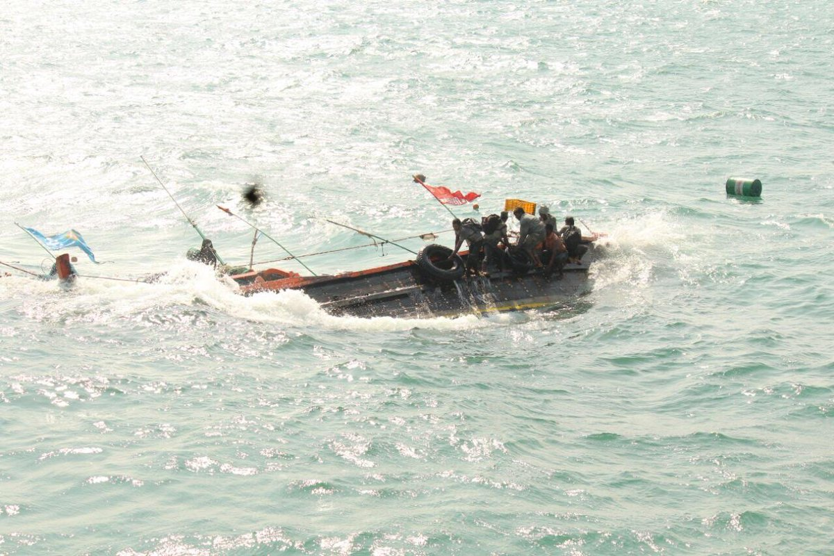 Coast Guard rescues 6 fishermen from capsized boat near Indo-Pak Maritime border off Gujarat coast