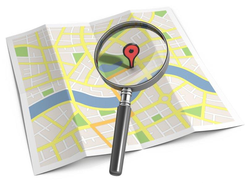 может поиск на карте картинки вам показать