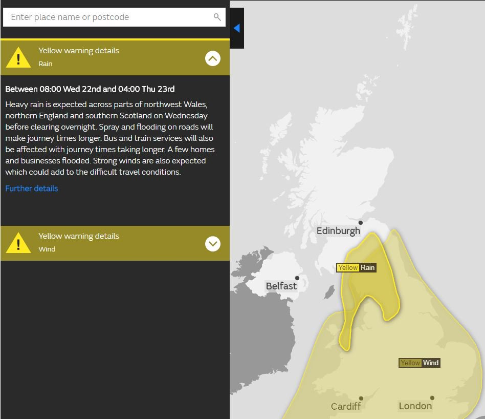 test Twitter Media - Yellow warning for rain 🌧️  Tomorrow 8pm - 4am Thursday for Scottish Borders & Dumfries and Galloway Advance snow warning from 3am Thursday also ⚠️  #BeAware, more info here: https://t.co/uYJshsFtlD  @metoffice https://t.co/3nhsKE8Tua