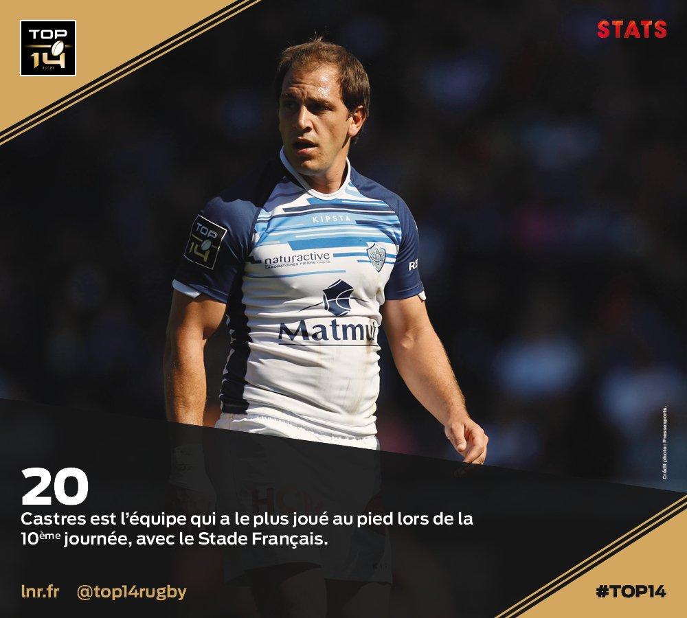 #TOP14, J10   #Stats ► @CastresRugby a b...