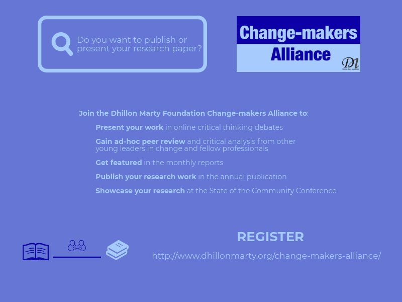 Got ideas and research to showcase? Make a bigger impact with your work!  Join us in revolutionising civic values:  http://www. dhillonmarty.org/change-makers- alliance &nbsp; …  #CriticalThinking #research #ResearchVisibility #changemakers<br>http://pic.twitter.com/k3qbkgsnOl