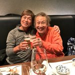 今夜は堀川りょうくんと二人で、お互い幾つも相手役をやった鶴ひろみさんを偲んで献杯した(T ^ T) …