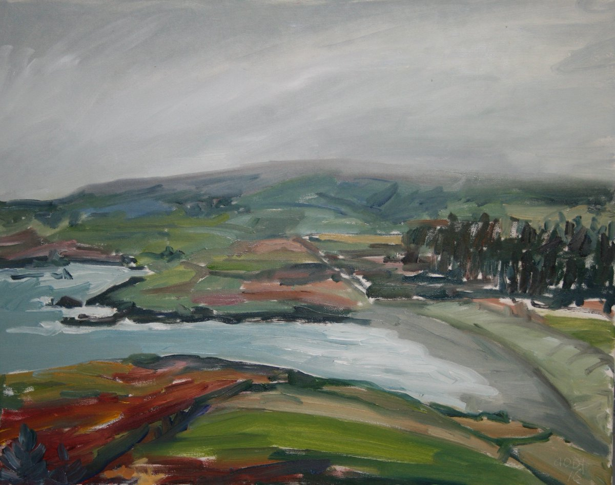 Painting the landscape takes me into its&#39; arms and releases energy and an intuitive response...It has that same timeless feel from my childhood. #Presence @EckhartTolle  @IrishArtsReview @irishartnews #Irishart #Ireland #fineart<br>http://pic.twitter.com/ftld5dCSpv