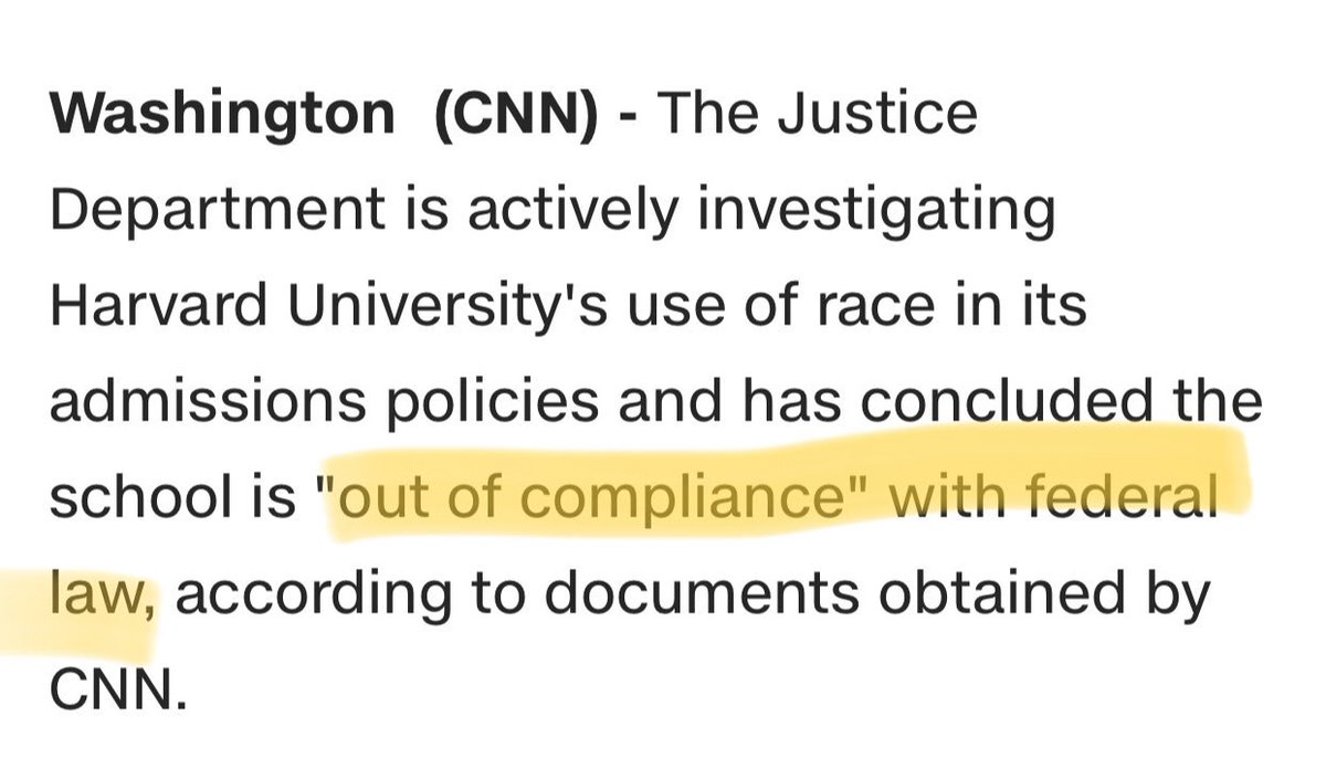 #DOJ investigating #Harvard over affirmative action implementation.  #Sessions the perjurer is trying to undermine progress made in equalizing opportunities when so much more still has to occur. #AffirmativeAction #Harvard #HigherEducation #IvyLeague   http://www. cnn.com/2017/11/21/pol itics/harvard-affirmative-action-justice-department/index.html &nbsp; … <br>http://pic.twitter.com/hsd3i4gJYX