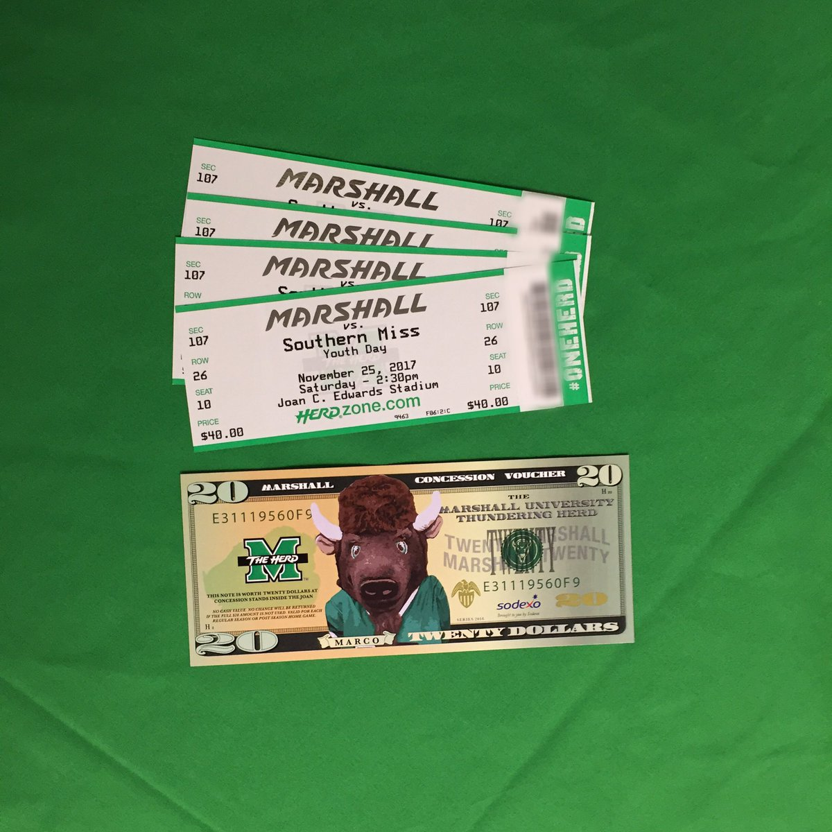 Retweet This For Your Chance To Win A Family Pack The Herdfb Vs Southern Miss Weekend 4 Tickets 20 Concession Voucher