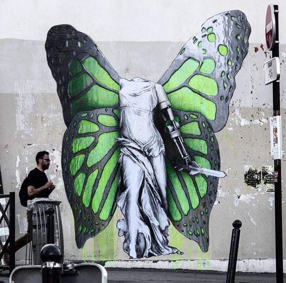 ...no reason, no war... be free! Beautiful piece by Ludo, Paris #StreetArt #Art #NoWar #BeFree #Wings #Beauty #Paris<br>http://pic.twitter.com/GTdUSj1x0c