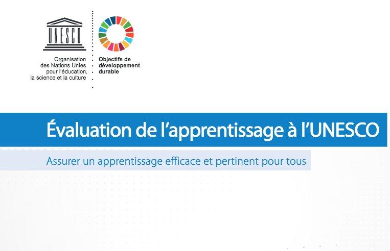 Évaluation de l'#apprentissage à l'#UNESCO : assurer un apprentissage efficace et pertinent pour tous (pdf, 6 pages)  http:// unesdoc.unesco.org/images/0026/00 2603/260325f.pdf  … pic.twitter.com/IfFpuI702n