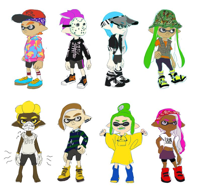Moetron Pkjd On Twitter Splatoon 2 New Hairstyles And Gear