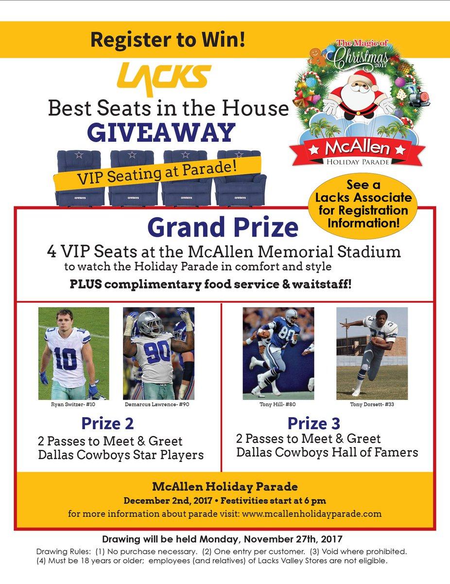 City of mcallen tx on twitter meet the dallas cowboys players meet the dallas cowboys players enjoy the parade from the best seats in the house all under a peppermint scented snowfall m4hsunfo