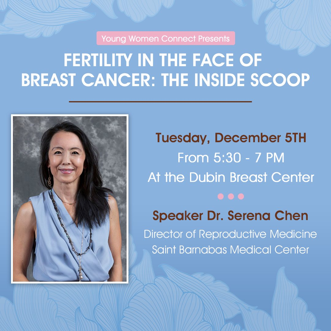 Join @drserenahchen at @MountSinaiNYC on December 5th for #Fertility in the Face of #BreastCancer: The Inside Scoop!<br>http://pic.twitter.com/nvgclHHP1K