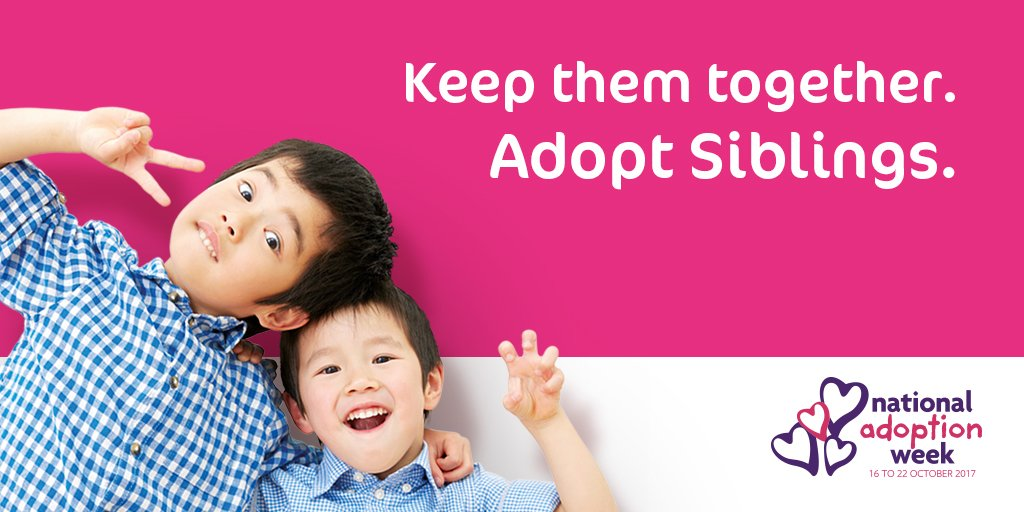 It&#39;s been a month since #NAW2017 &amp; we had a great response to our &#39;Adopt Siblings&#39; campaign, but we still have sibling groups awaiting #adoption. Considering adopting siblings? Contact us today. #Devon #Somerset #Adopt #Siblings <br>http://pic.twitter.com/MDI7fcnrUp