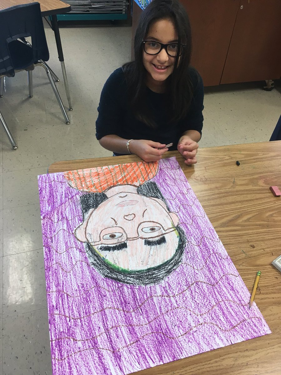 3rd grade #selfportraits with #pastels <br>http://pic.twitter.com/OCZ5tHin04