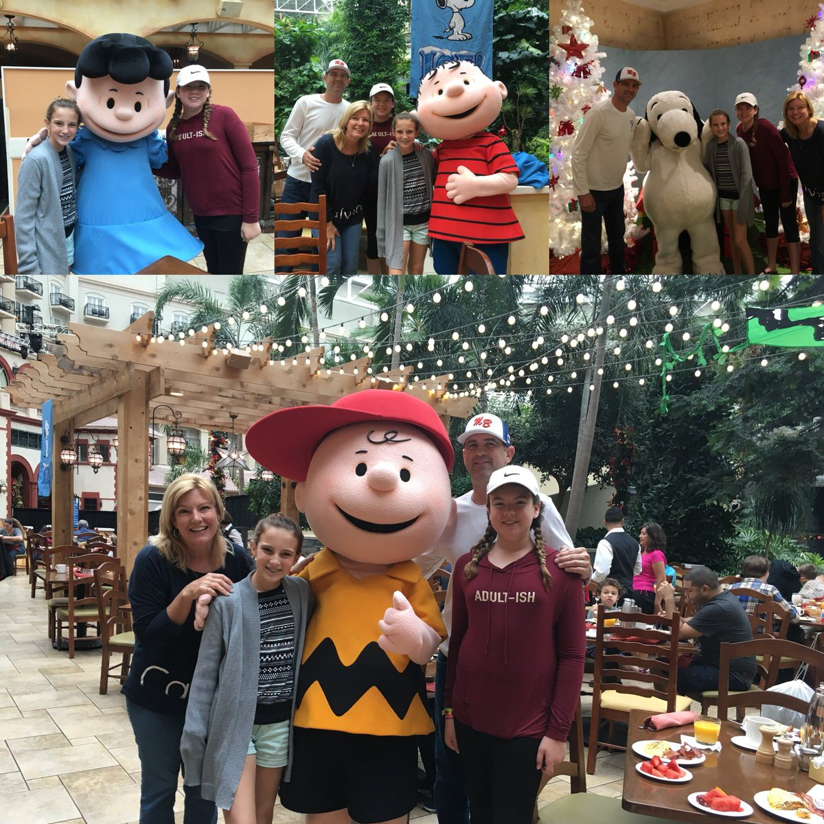 Breakfast with the Peanuts gang!!@Gaylor...