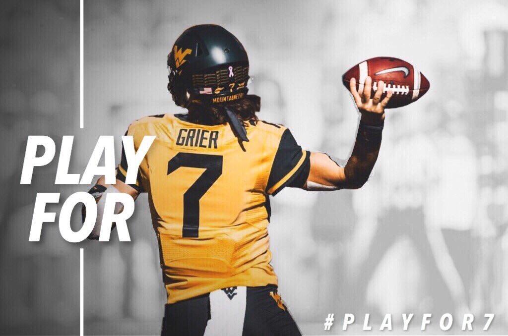 This week we...#PlayFor7 #WVU <br>http://pic.twitter.com/E8Mer4Gd5m