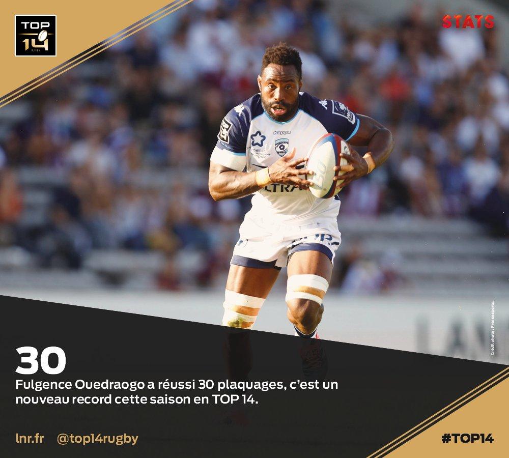 #TOP14, J10   #Stats ► @FufuOuedraogo (@...