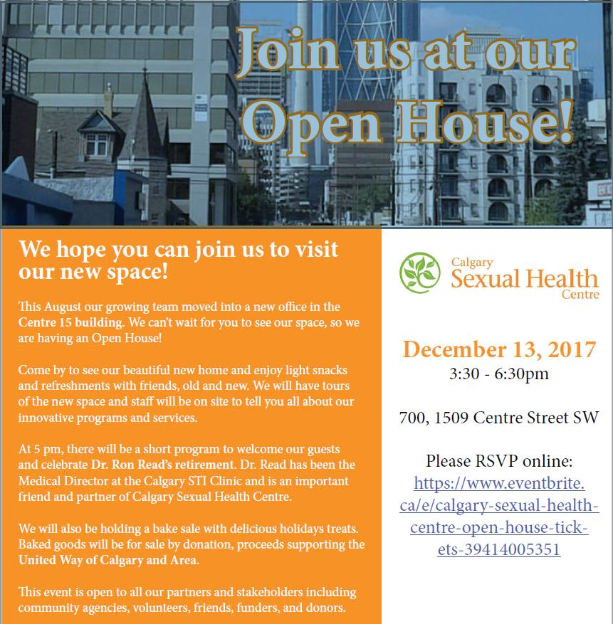 Calgary sexual health centre address