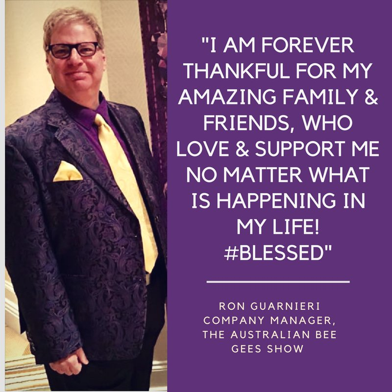 Our last #ThankfulQuote comes from the Australian Bee Gees Show Company Manager, Ron Guarnieri! <br>http://pic.twitter.com/0zTL9ezq8r