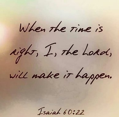 When the time is right, I, the Lord, will make it happen.   #TTN #nonprofit #charity<br>http://pic.twitter.com/ho5BQ36UBk