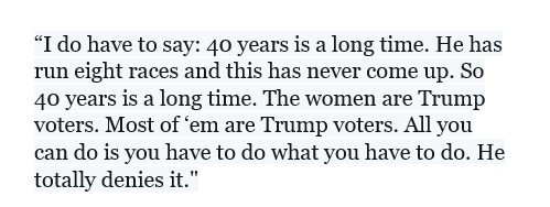 A transcript of the weirdest part of Trump's remarks: he casts doubt on the women accusing Moore, then boasts, 'The women are Trump voters.'