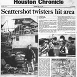 At this moment 25 years ago, Houston was at the height of our most serious tornado outbreak. Six confirmed including an F-4 in Channelview (strongest on record here). Zero fatalities. Our @SpaceCityWX history from last year: https://t.co/lJCeuqU6Kl