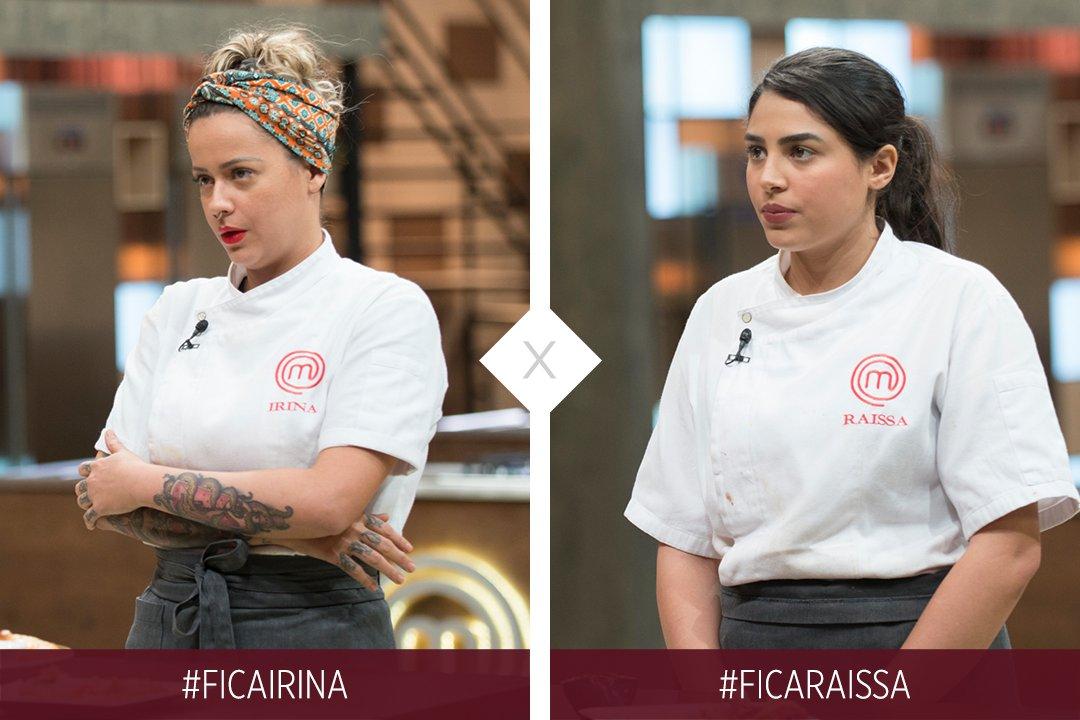 A berlinda está formada! Quem deve estar na semifinal do #MasterChefBR?  #FicaIrina #FicaRaissa