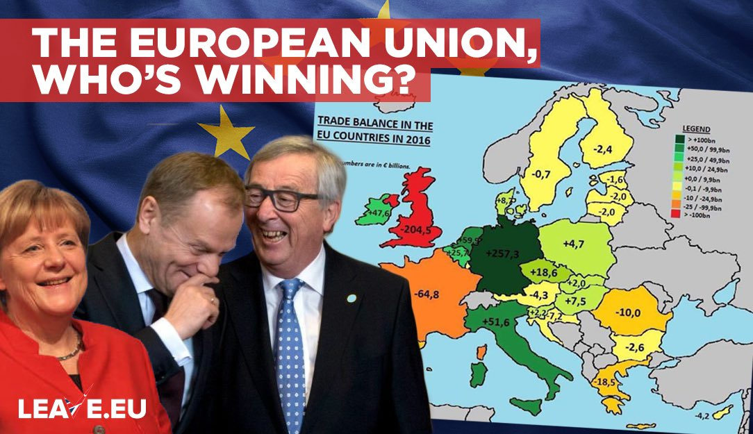 Take a look at who is winning from the #EuropeanUnion. Hint: It's not #BRITAIN! Thanks to the UTTER #COWARD @theresa_may! #MrsMay you are DISGRACEFUL! @Conservatives #Conservatives #ConservativeParty #BBC #SKY #ITV #EUNEWS #TORY #UK #NEWS #EU #Brussels #LABOUR #UKIP<br>http://pic.twitter.com/of0i0dhF1D